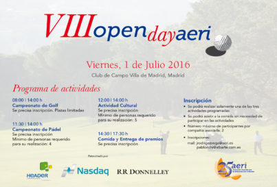 VIII OPEN DAY 2017 DE AERI